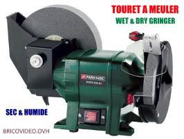 touret à meuler sec et humide 250w